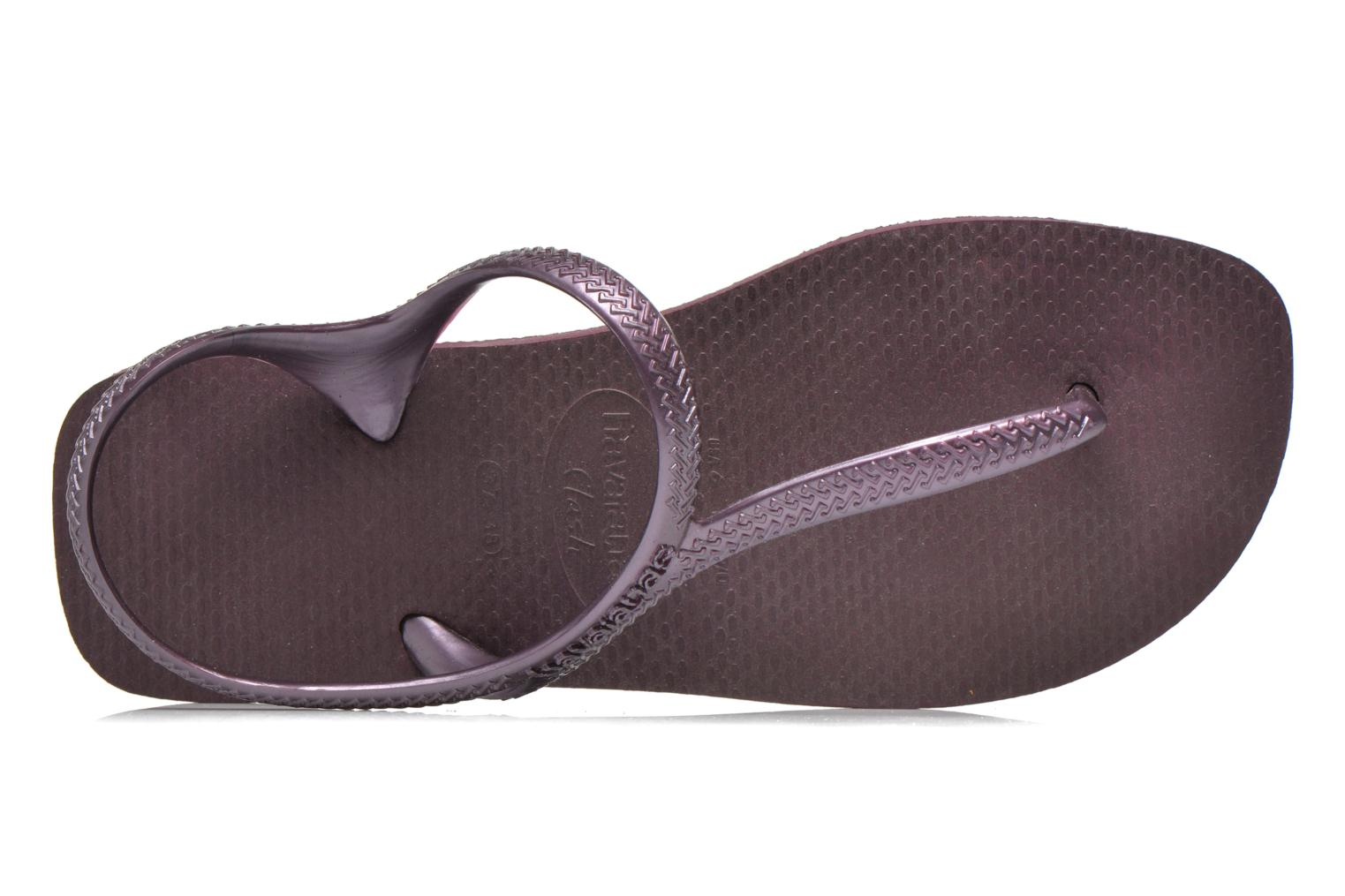 Sandals Havaianas Flash Urban Purple view from the left