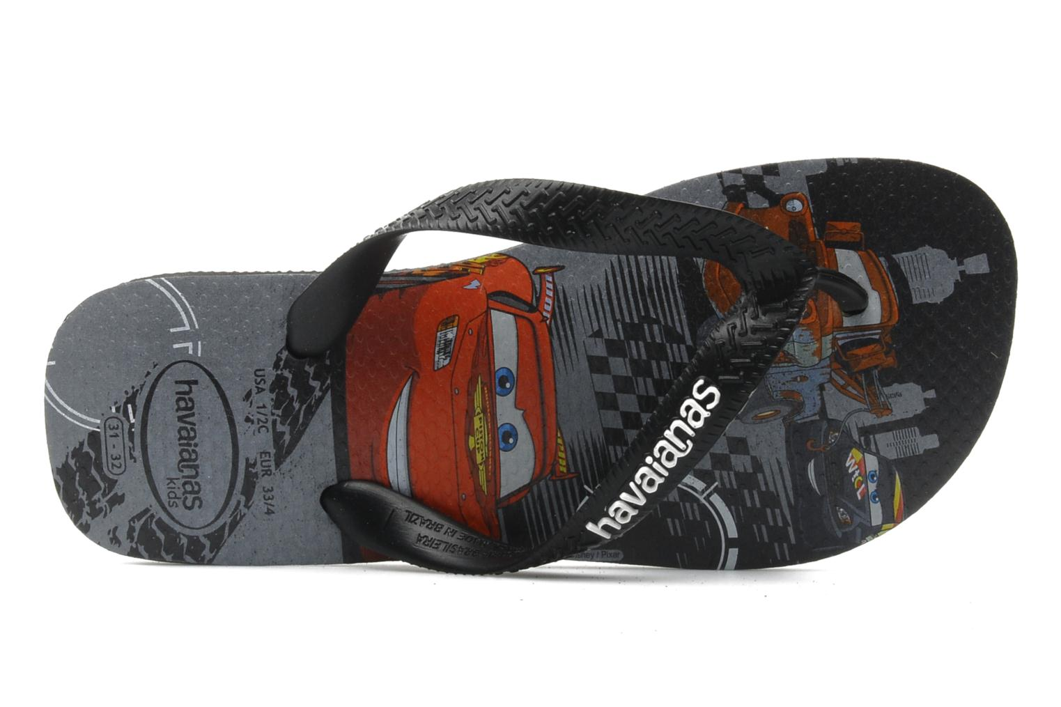 Flip flops Havaianas Kids Cars Black view from the left