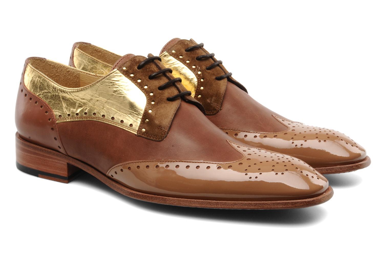 Chaussures à lacets Free Lance Totsy 4 derby perfo Marron vue 3/4