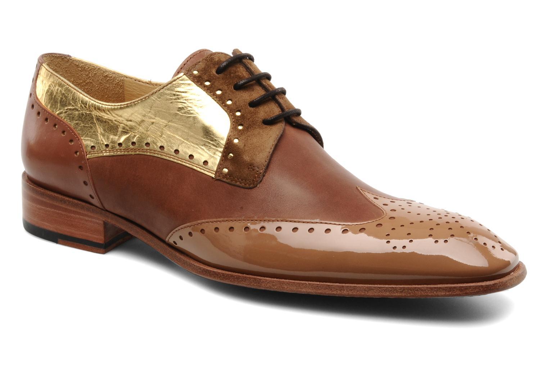 Chaussures à lacets Free Lance Totsy 4 derby perfo Marron vue détail/paire