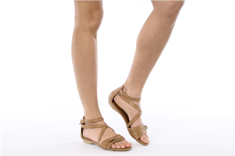 Sandals Geox D felisa d Brown view from underneath / model view