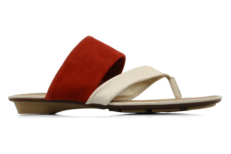 Flip flops Geox D felisa r Red back view