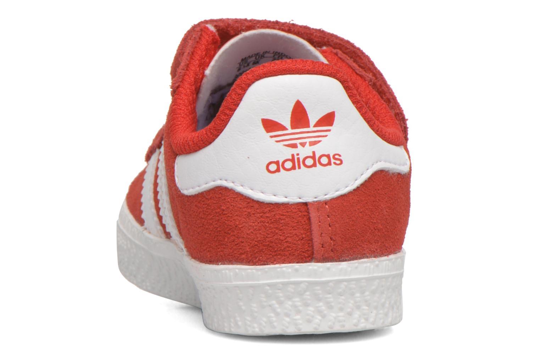 Sneaker Adidas Originals Gazelle 2 CF I rot ansicht von rechts
