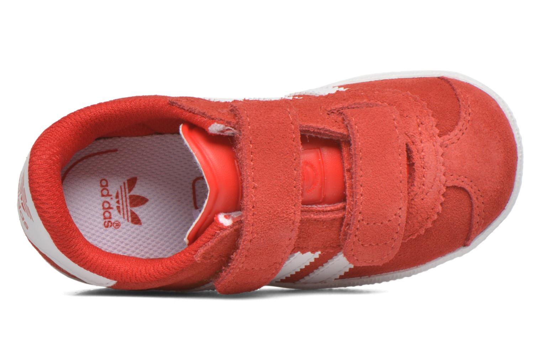 Baskets Adidas Originals Gazelle 2 CF I Rouge vue gauche