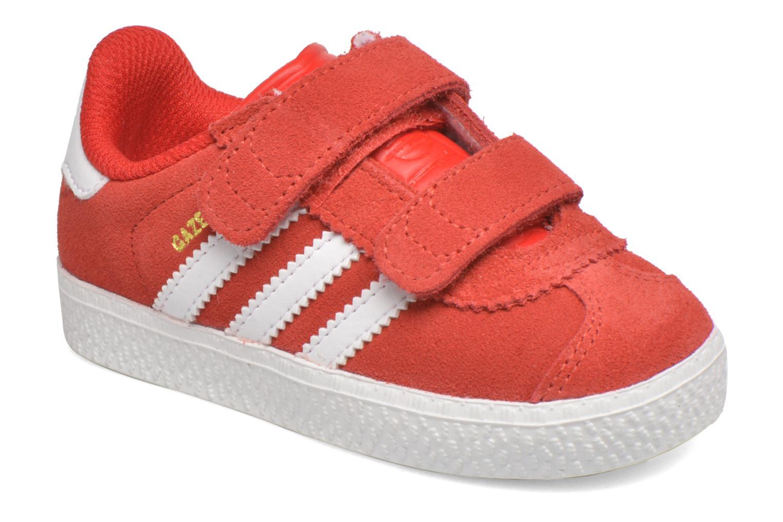 Baskets Adidas Originals Gazelle 2 CF I Rouge vue détail/paire