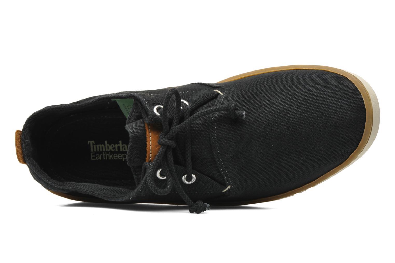Sneaker Timberland Earthkeepers Hookset Handcrafted Fabric Oxford schwarz ansicht von links