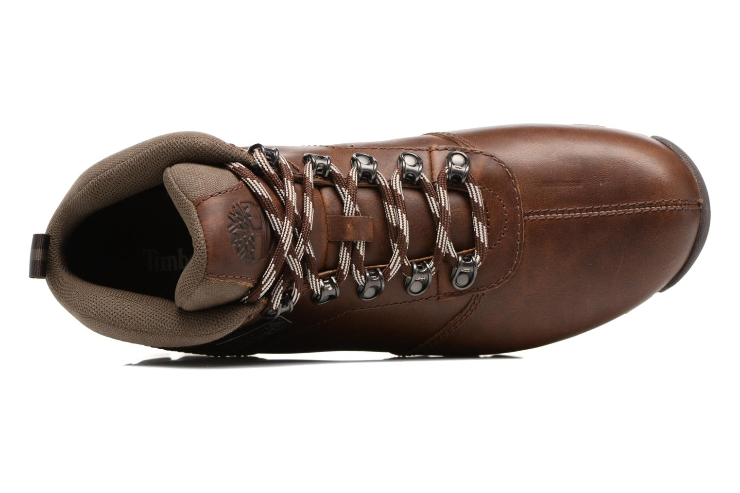 Lace-up shoes Timberland Splitrock 2 Brown view from the left