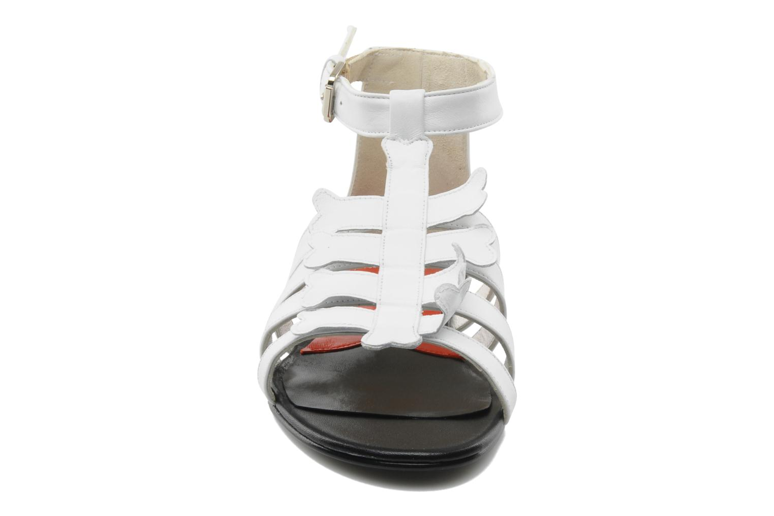 Sandals Mellow Yellow Leskelet White model view