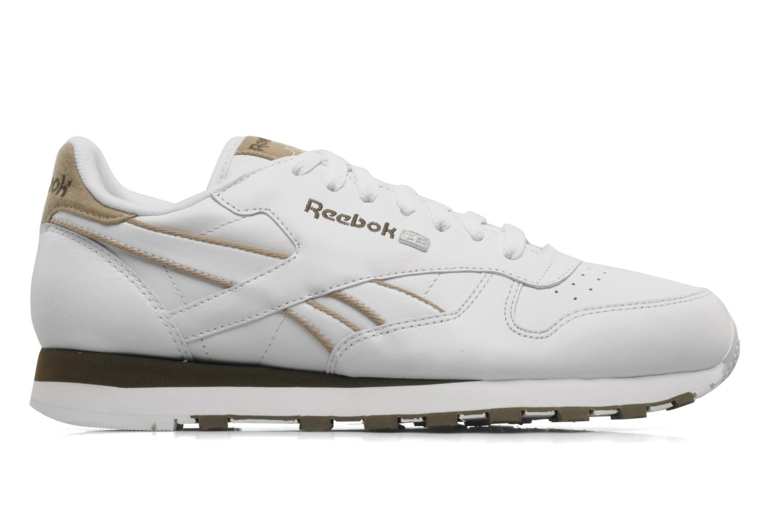 Trainers Reebok CL Leither Matl White back view