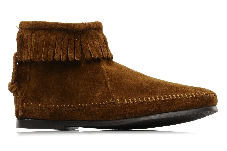 Boots en enkellaarsjes Minnetonka BACK ZIPPER BT Bruin achterkant