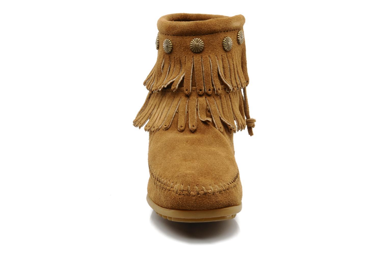 Boots Minnetonka DOUBLE FRINGE BT Brun bild av skorna på