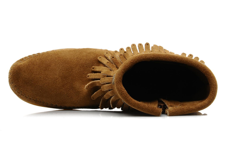 Boots en enkellaarsjes Minnetonka DOUBLE FRINGE BT Bruin links