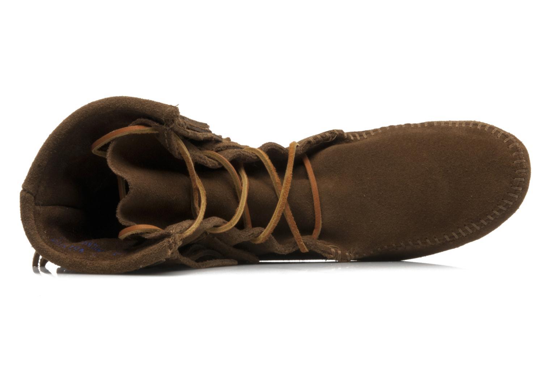 Stiefeletten & Boots Minnetonka DOUBLE FRINGE TRAMPER braun ansicht von links