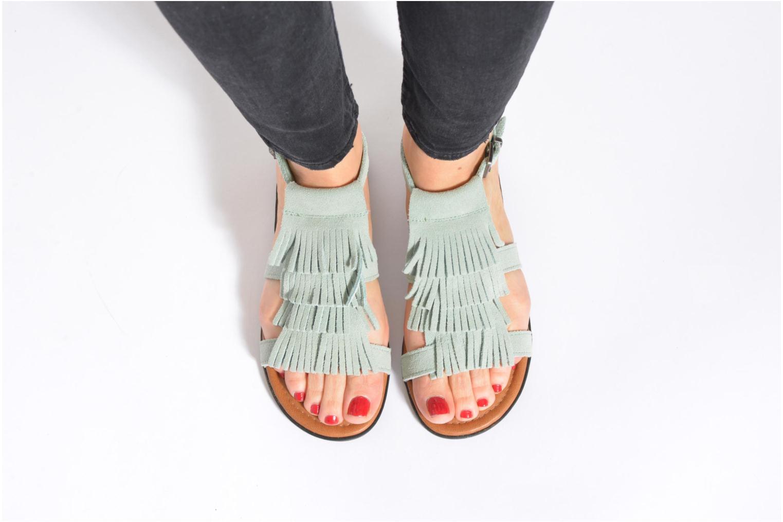 Sandalen Minnetonka Maui grün ansicht von unten / tasche getragen