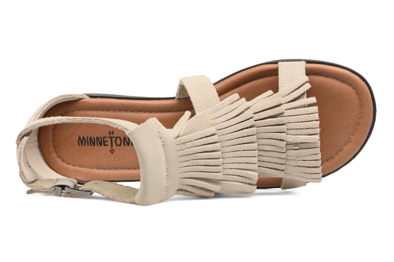 Sandali e scarpe aperte Minnetonka Maui Beige immagine sinistra