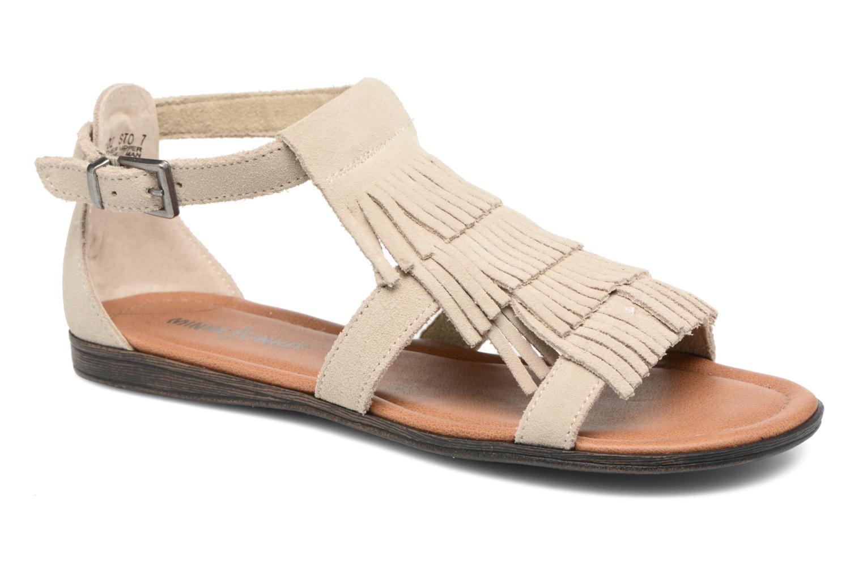 Sandals Minnetonka Maui Beige detailed view/ Pair view