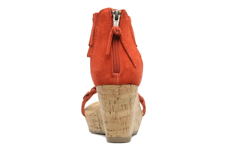 Sandaler Minnetonka Nicki Röd Bild från höger sidan