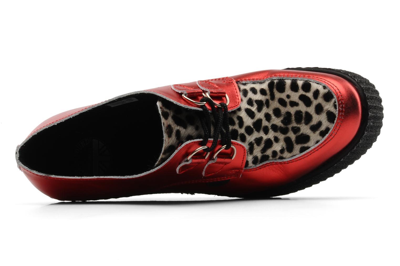 Snörade skor Underground Flashies Röd bild från vänster sidan