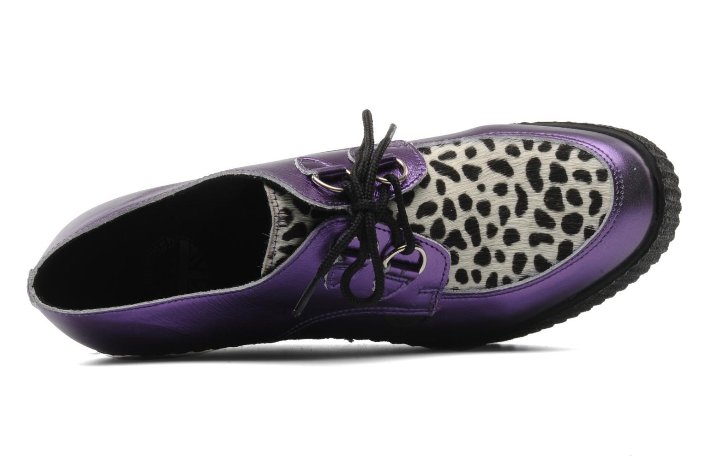 Zapatos con cordones Underground Flashies Violeta      vista lateral izquierda