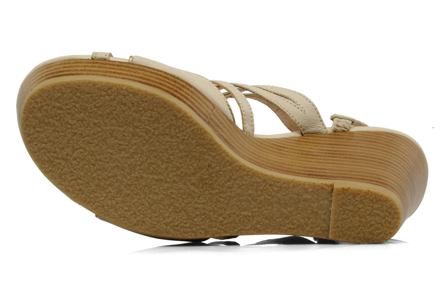 Sandals Mellow Yellow Leef Beige view from above