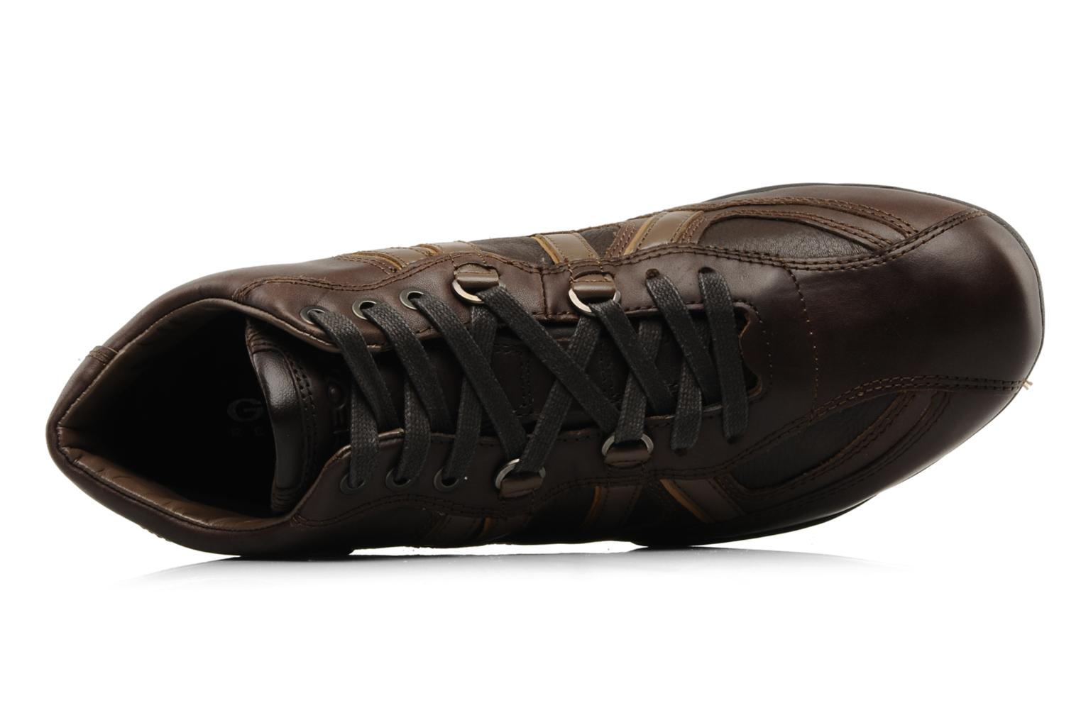 Trainers Geox U New Early Brown view from the left