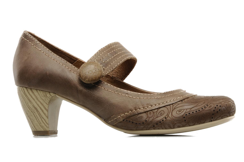 High heels Pikolinos Florencia 8223 Brown back view