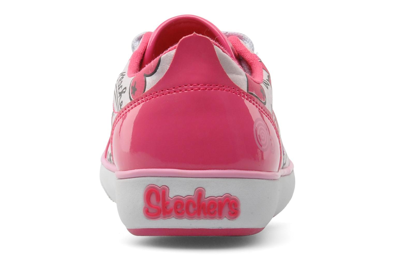 Deportivas Skechers Curtsies Rosa vista lateral derecha