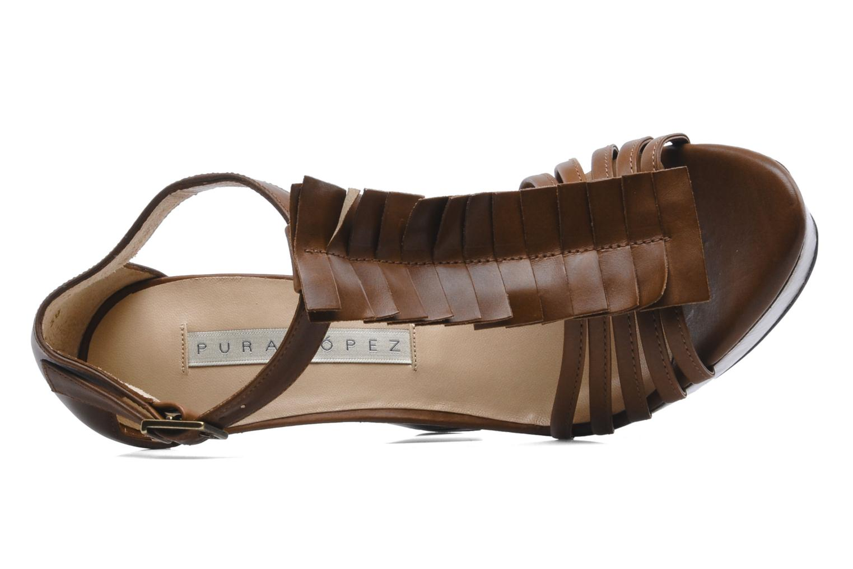 Sandales et nu-pieds Pura Lopez Krista Marron vue gauche
