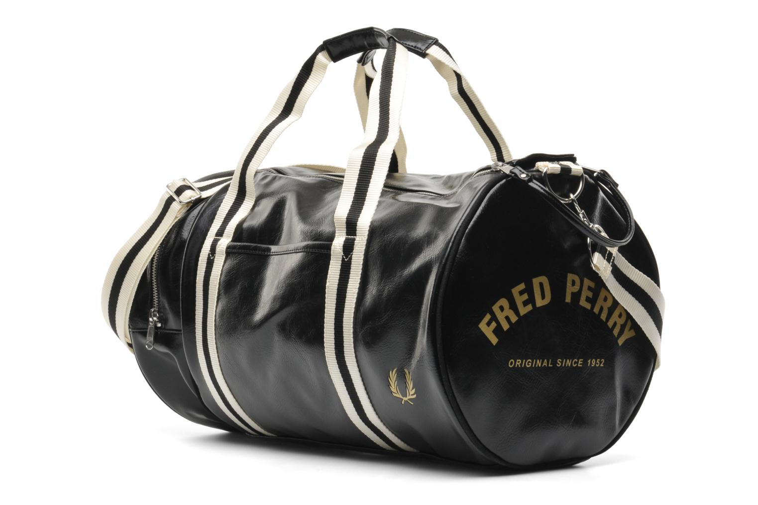 Classic barrel bag black-gold
