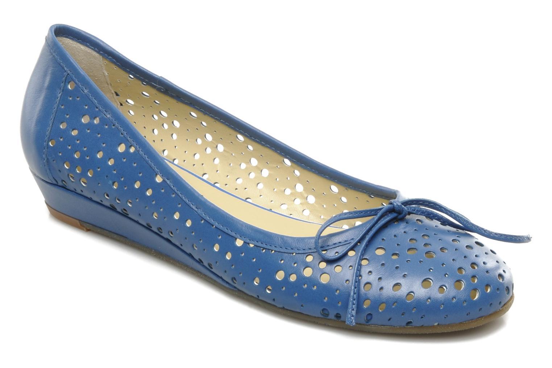 Ballerinaer Georgia Rose Tourine Blå detaljeret billede af skoene