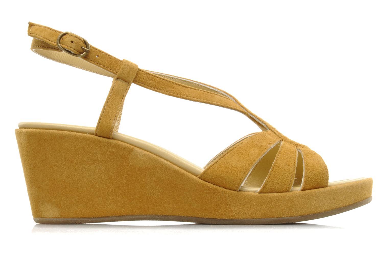Sandalen Georgia Rose Tomasi gelb ansicht von hinten