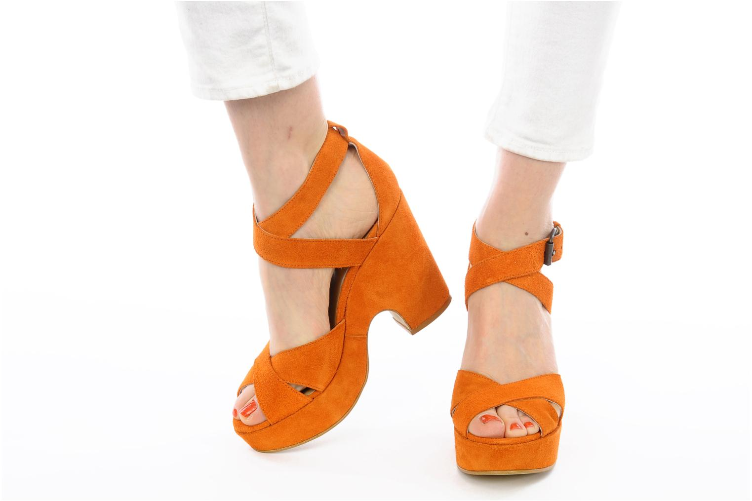 Sandals Georgia Rose Tobaco Orange view from underneath / model view