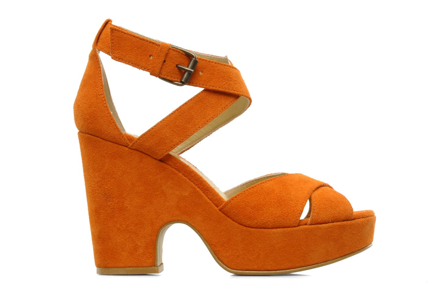 Sandals Georgia Rose Tobaco Orange back view