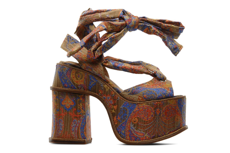 Sandales et nu-pieds Jeffrey Campbell LANDERS Or et bronze vue derrière