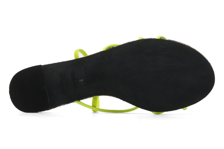 Sandales et nu-pieds Jeffrey Campbell SPIRAL Jaune vue haut