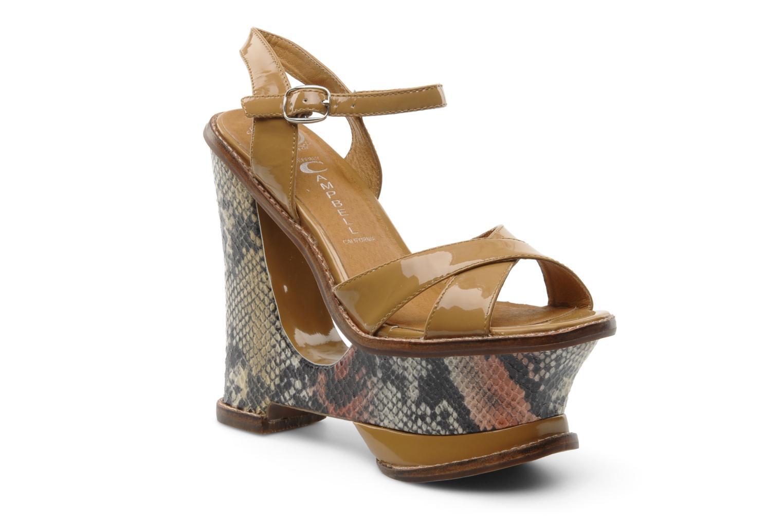 Sandales et nu-pieds Jeffrey Campbell HARE 2 Beige vue détail/paire