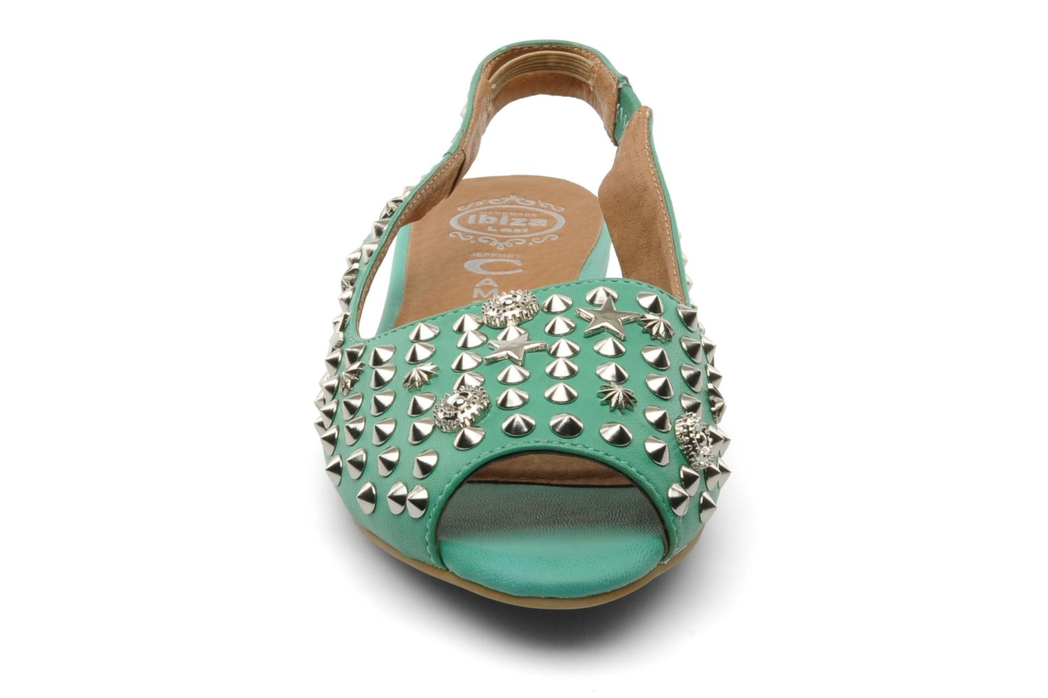 Sandalias Jeffrey Campbell SIDE NOTE Verde vista del modelo