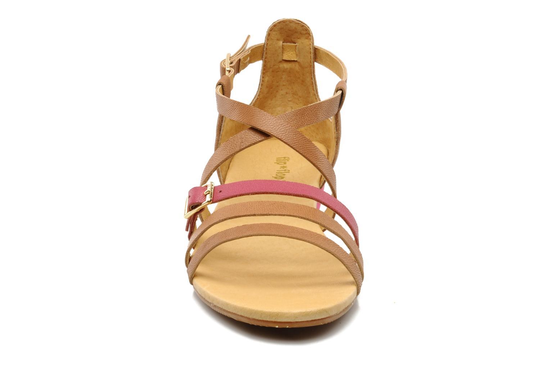 Sandales et nu-pieds Flipflop LIZ Marron vue portées chaussures