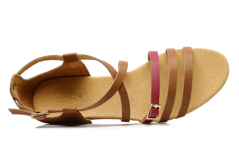 Sandales et nu-pieds Flipflop LIZ Marron vue gauche