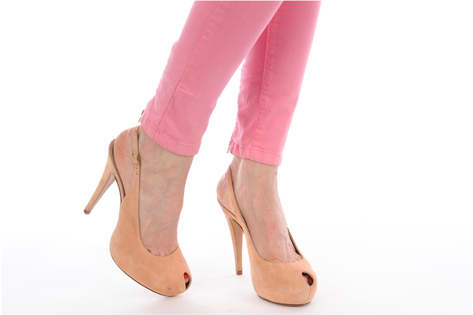 Sandals Georgia Rose Tyler Pink view from underneath / model view