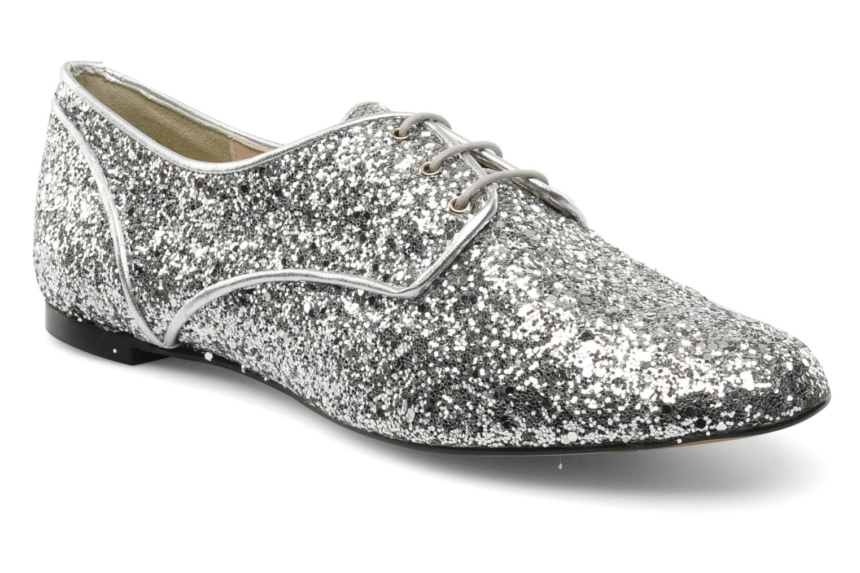 Snøresko Georgia Rose Poisson Sølv detaljeret billede af skoene