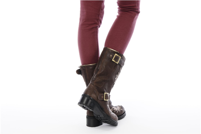 Bottines et boots Georgia Rose Perjane Marron vue bas / vue portée sac