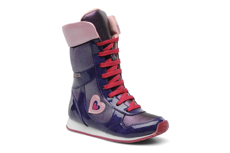 Ankle boots Agatha Ruiz de la Prada Divina Purple detailed view/ Pair view