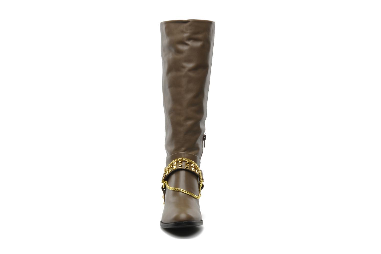 Bottes Luciano Barachini Marla Marron vue portées chaussures