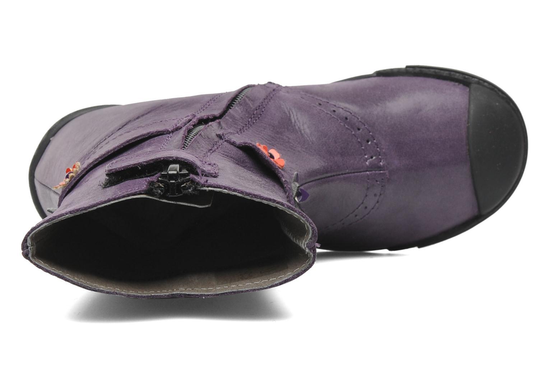 Stiefel Mod8 Karnabi lila ansicht von links