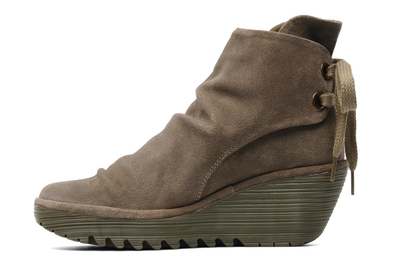 Stiefeletten & Boots Fly London Yama beige ansicht von vorne