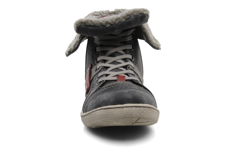 Sneaker Mustang shoes Mukki grau schuhe getragen