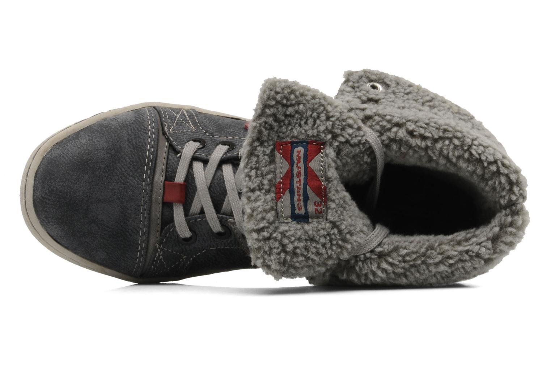 Sneaker Mustang shoes Mukki grau ansicht von links
