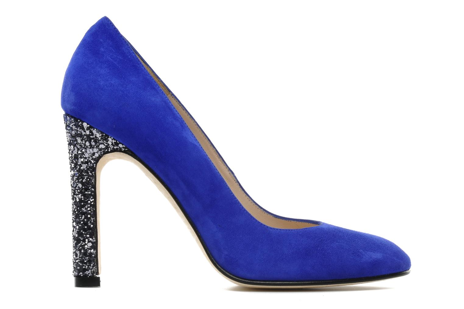 High heels Mellow Yellow Orambo Blue back view