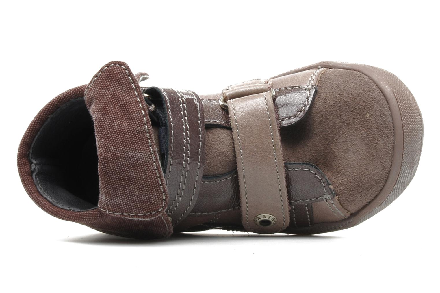 Velcro shoes Babybotte actor F Purple view from the left